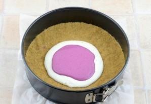 Двухцветный творожный торт (без выпечки) - фото шаг 3