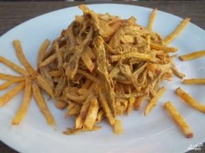Салат из говядины и редиса - фото шаг 6