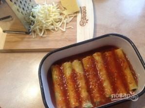 Каннеллони с тунцом в помидорном соусе - фото шаг 6