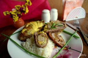 Рулетики из свинины с ананасами и сыром - фото шаг 7