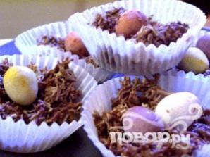 Шоколадные гнёзда на Пасху - фото шаг 6
