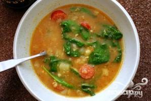 Суп с колбасой и сладким картофелем - фото шаг 5