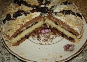 Бисквитный торт с черносливом - фото шаг 5