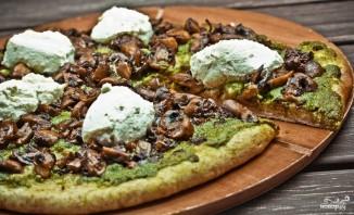 Цельнозерновая пицца с шампиньонами и рикоттой - фото шаг 9