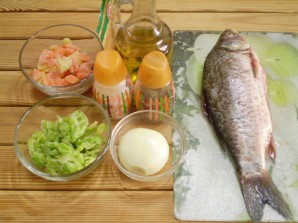 Жареная рыба с овощами - фото шаг 1