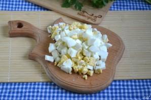 Салат с корейской морковкой и грибами - фото шаг 3