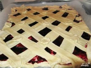 Пирог с повидлом из слоеного теста - фото шаг 6