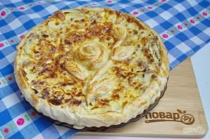 Супер нежный пирог с капустой и мясом - фото шаг 12