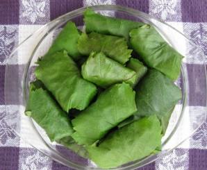 Долма из свежих листьев винограда - фото шаг 3