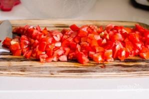 Салат с макаронами, овощами и сыром - фото шаг 2