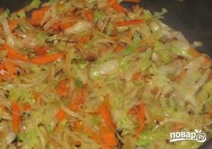 Китайская лапша с креветками - фото шаг 5