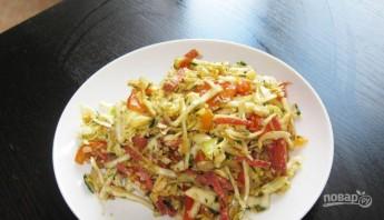 Салат из колбасы и сыра - фото шаг 5