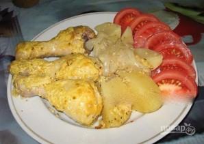 Куриная голень с картошкой в духовке - фото шаг 5