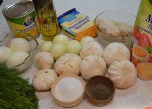 Салат в виде елки - фото шаг 1