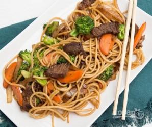 Макароны с мясом и овощами - фото шаг 13