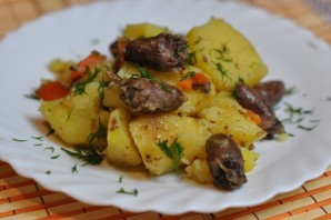 Сердечки с картошкой в мультиварке - фото шаг 6