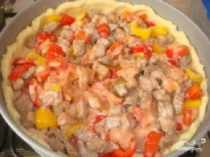 Открытый мясной пирог - фото шаг 3