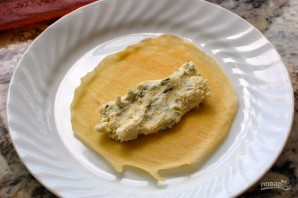 Маникотти из блинов с сырной начинкой - фото шаг 3