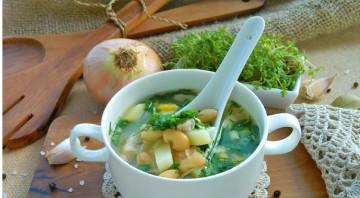 Куриный суп с фасолью консервированной - фото шаг 4