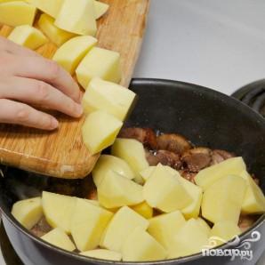 Тушенная утка с баклажанами и картофелем - фото шаг 7