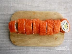 """Рецепт суши """"Филадельфия"""" дома - фото шаг 9"""