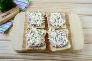 Гармошка из бутербродов - фото шаг 4