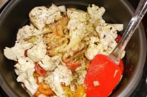 Овощное рагу с цветной капустой в мультиварке - фото шаг 2