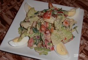 Салат с пекинской капустой и помидорами - фото шаг 8