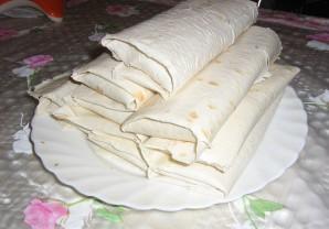 Шаурма по-домашнему с колбасой - фото шаг 4