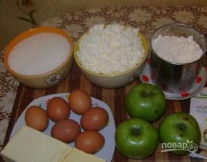 Пирог c воздушным творогом и яблоками - фото шаг 1