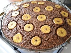 Шоколадная овсянка с бананом - фото шаг 7