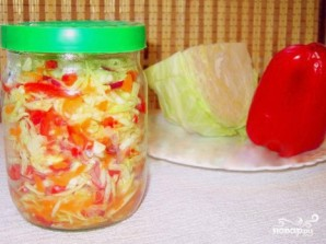 Маринованная капуста с красным перцем - фото шаг 7