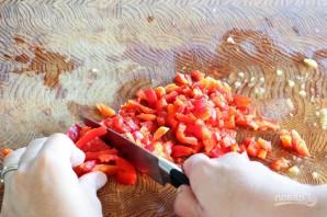 Салат с персиками и овощами - фото шаг 3