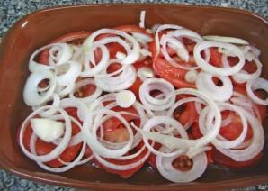 Скумбрия в духовке с помидорами - фото шаг 2