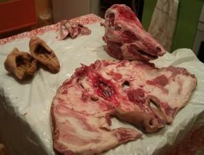 Рулет из свиной головы - фото шаг 3