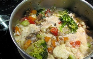 Овощное рагу со сливками - фото шаг 4