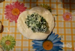 Жареные пирожки с яйцом, луком и зеленью  - фото шаг 6