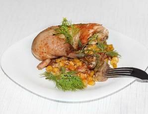 Курица с кукурузой в духовке - фото шаг 3