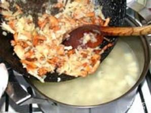 Грибной суп со сливками - фото шаг 3