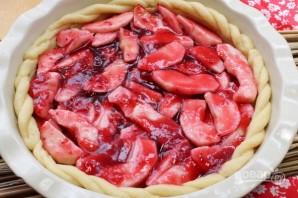 Яблочный пирог с песочным тестом - фото шаг 8