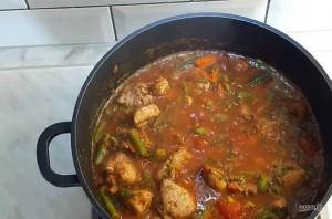 Касулле (мясо с фасолью и овощами) - фото шаг 3