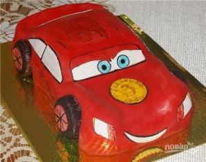"Торт ""Молния Маквин"" - фото шаг 10"