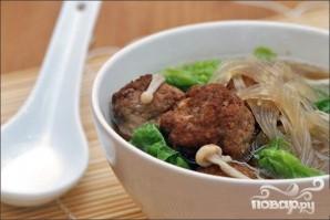 Фунчоза с говядиной и грибами - фото шаг 4