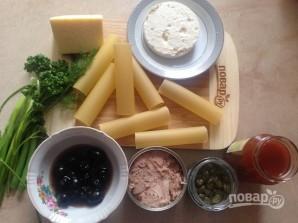 Каннеллони с тунцом в помидорном соусе - фото шаг 1
