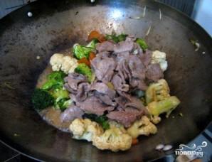 Говядина с брокколи и цветной капустой - фото шаг 4