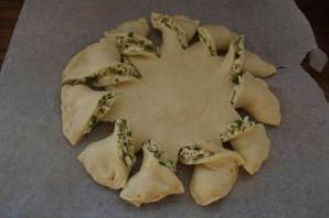 Пирог с зеленью и брынзой - фото шаг 9