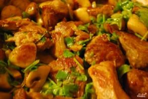 Свиная поджарка с грибами - фото шаг 4