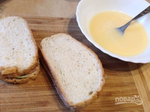 Горячий сэндвич с лососем - фото шаг 7