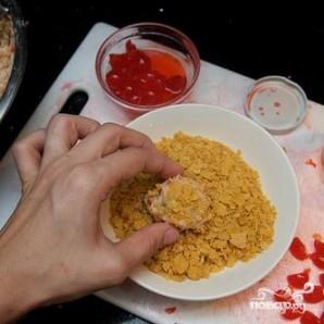 Печенье с орехами и мараскиновой вишней - фото шаг 6