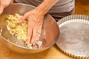 Песочный пирог с персиками - фото шаг 4